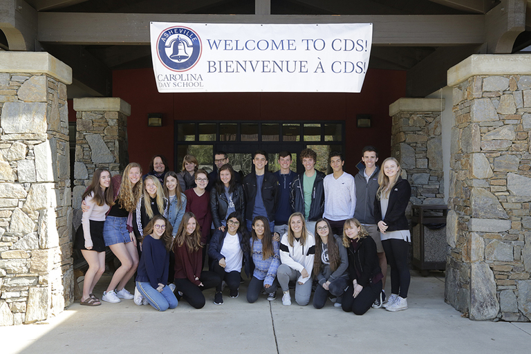 Bringing France to Asheville: Lycée Notre Dame students visit Carolina Day as part of cultural exchange program